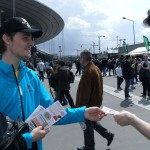 Distribution de flyers Meeting Areva au Stade de France par Street Dispatch