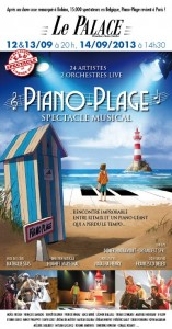 Affiche du spectacle musical Piano Plage