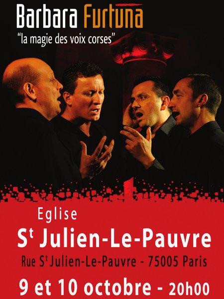 Barbara Furtuna en concert à l'église Saint-Julien le Pauvre