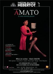 Affiche du spectacle d'Elisabeth Amato