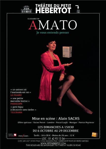 Élisabeth Amato au Théâtre du Petit Hébertot