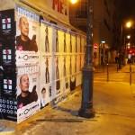Affichage Sauvage rue de Bretagne dans le Marais à Paris pour BLK DNM et Vincent Moscato.