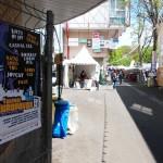 Pose d'affiches Europavox au festival du Printemps de Bourges