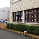 Pose d'affiches Alex Sorres, Europavox et Anais dans l'espace des professionnels au festival du Printemps de Bourges