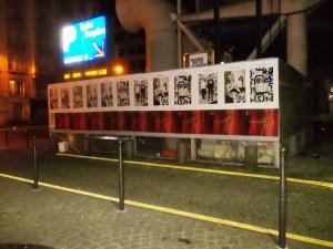 Affiche en sauvage pour Maison Standards et Cédric Charlier près du Centre Pompidou à Paris