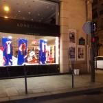 Affichage sauvage pour Maison Standards à coté de Longchamp de la rue Saint-Honoré à Paris