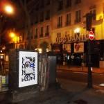Une affiche en sauvage pour Maison Standards place de l'Odéon à Paris