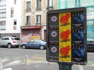 Affichage libre à Montreuil pour Cristal Records, Festival TaParole et Seal