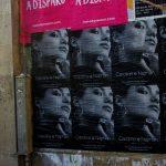 Wild posting à Paris dans le Marais pour Caroline Najnam
