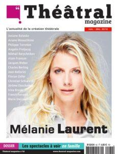 Couverture du numéro 62 de Théâtral Magazine avec Mélanie Laurent