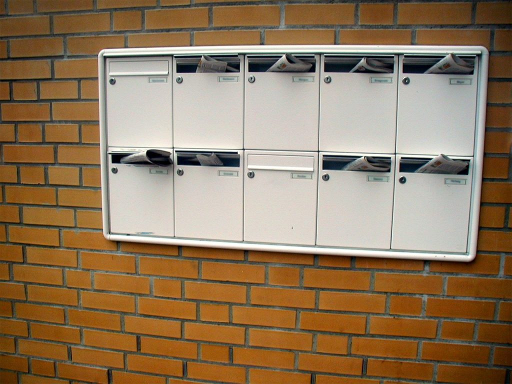 Distribution de prospectus dans les boîtes aux lettres