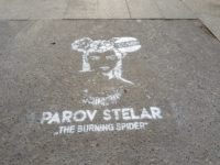 Pochoir street marketing à la peinture à Paris pour Parov Stelar
