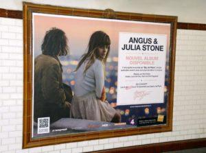 Réseau pub métro Paris d'affichage dans les couloirs