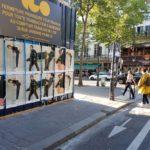 Campagne d'affichage pour Holzweiler à Paris pendant la fashion week.