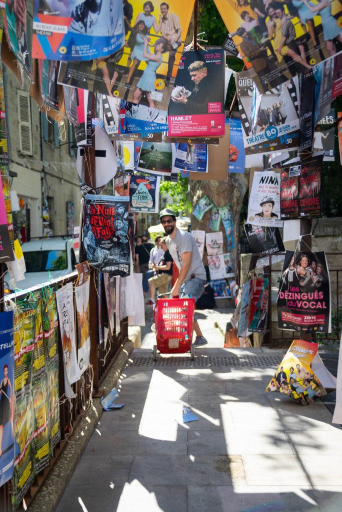 Affiche au festival d'Avignon