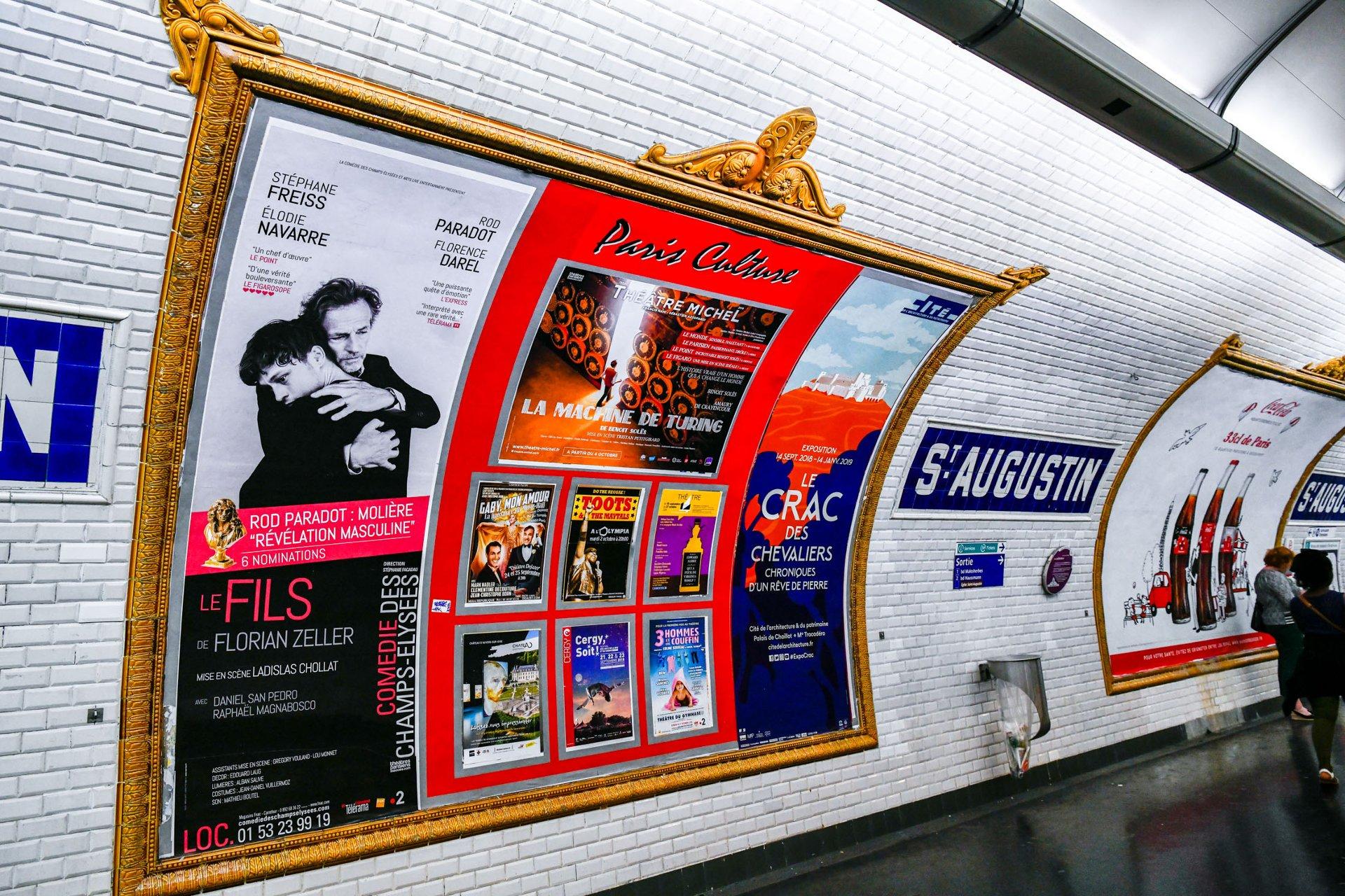 Affichage métro pour le spectacle Gaby Mon Amour