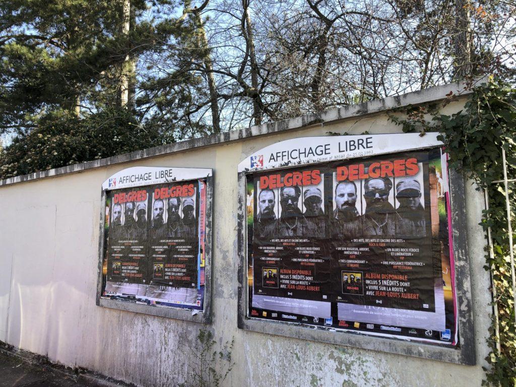 street marketing – affichage sauvage à Lyon pour la sortie de l'album de Delgres