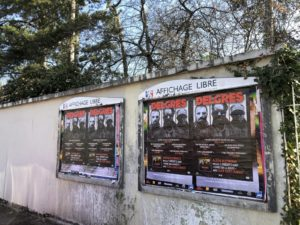 Affichage sauvage à Lyon pour la sortie de l'album de Delgres
