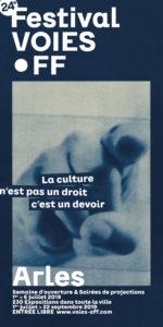 Programme 2019 du festival Voies Off, le off des rencontres de la photographie d'Arles.