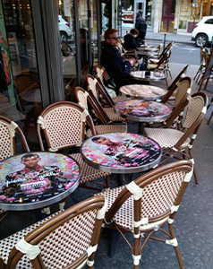 Médiatables, affichage sur les tables des cafés et restaurants