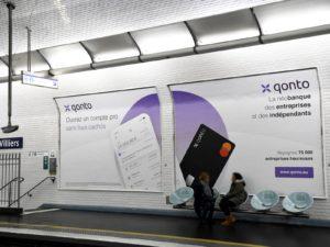 Double affiche sur le réseau DUO des quais de métro